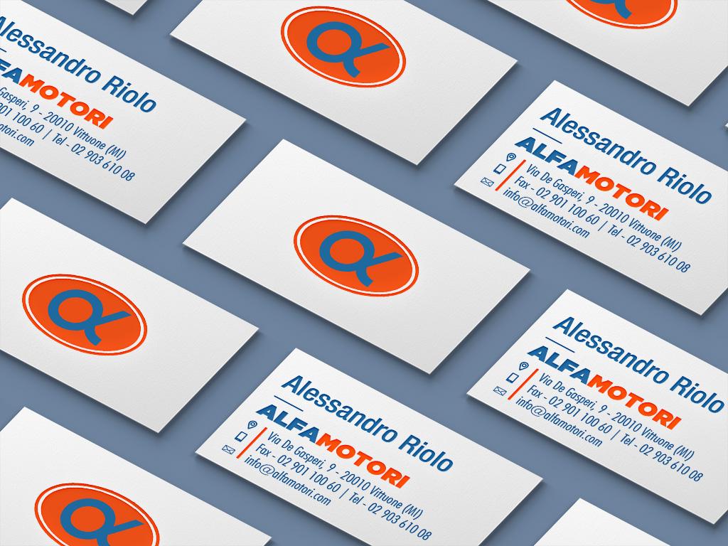 AlfaMotori Logo Redesign - Marco Champier - Graphic and Web Design