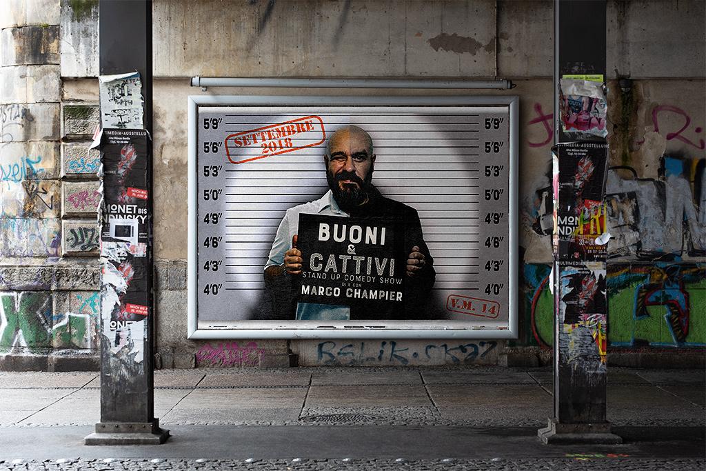 Buoni & Cattivi - Locandina Mockup - Marco Champier - Graphic and Web Design