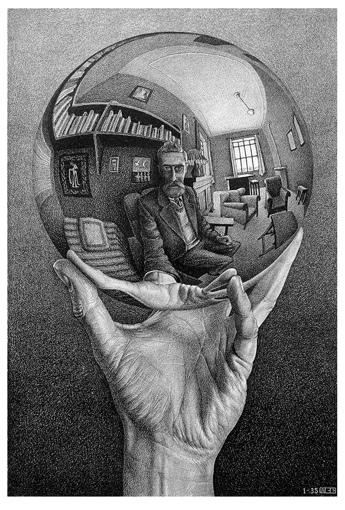 Escher's Ball - Joker in the Escher's Ball - OriginaleJoker in the Escher's Ball - Collage - Marco Champier - Graphic and Web Design