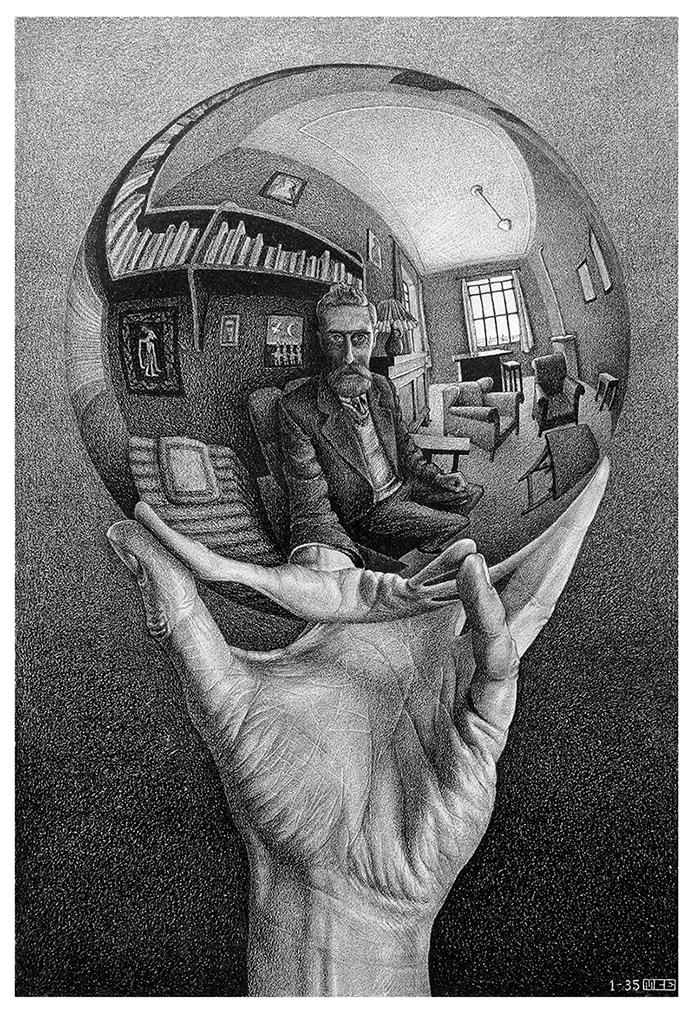Escher's Ball - Joker in the Escher's Ball - OriginaleJoker in the Escher's Ball - Collage - Marco Champier - Graphic and Web Design