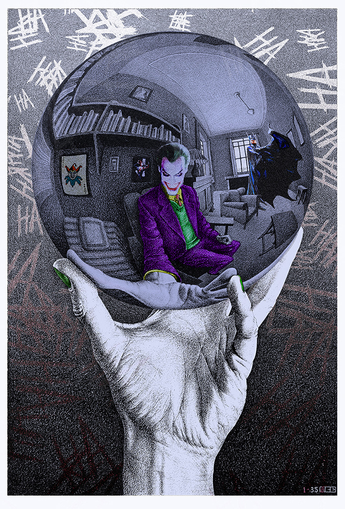 Joker in the Escher's Ball - Lavoro Finito - Marco Champier - Graphic and Web Design