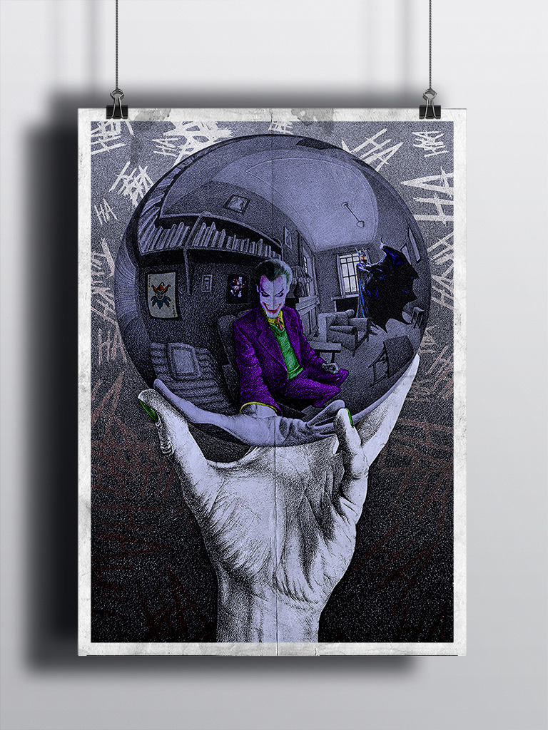 Joker in the Escher's Ball - Mockup - Marco Champier - Graphic and Web Design