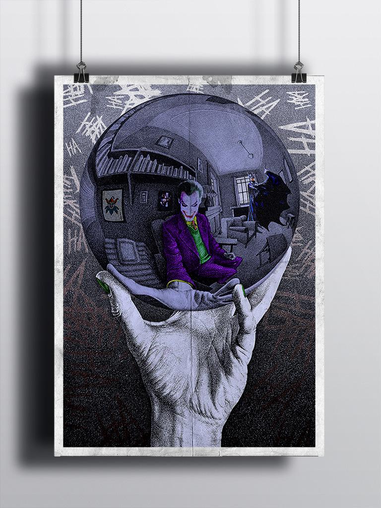 Joker in the Escher's Ball - Mockup - Marco Champier - Graphic and Web Design
