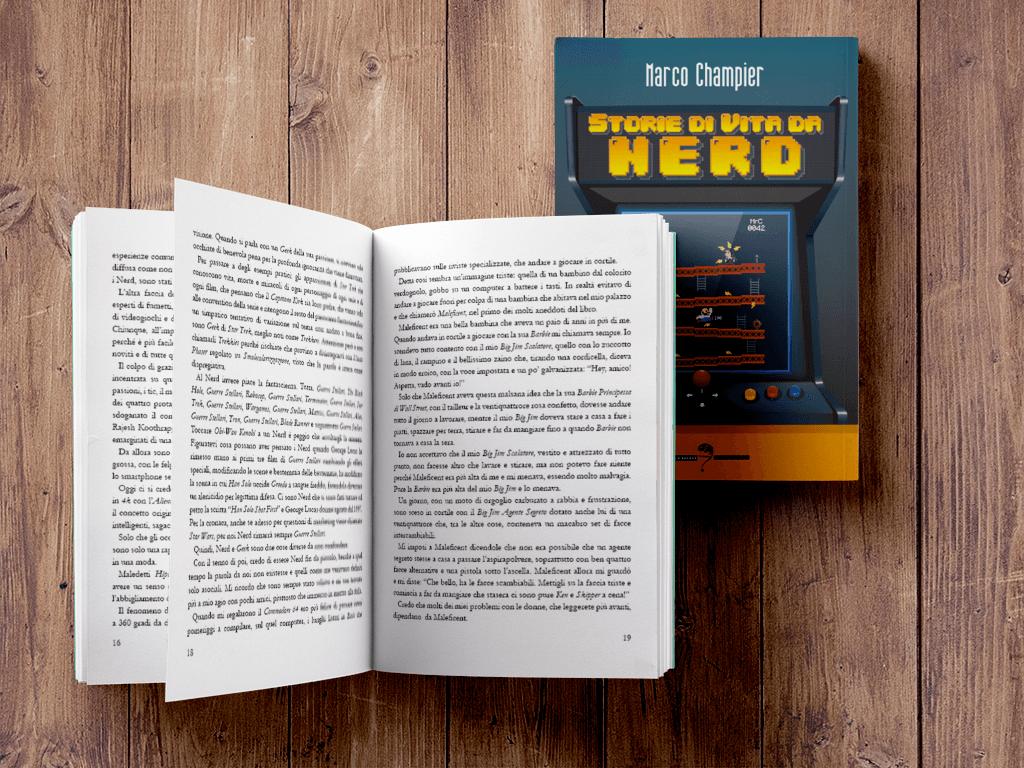 Storie di Vita da Nerd - Copertina e Impaginazione - Marco Champier - Graphic and Web Design
